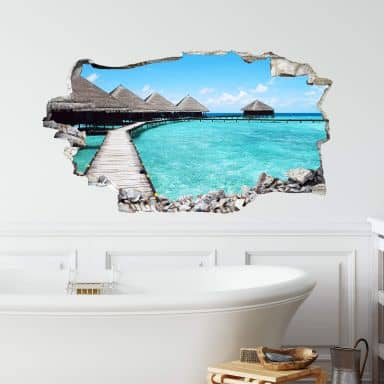 3D wall sticker Maldives
