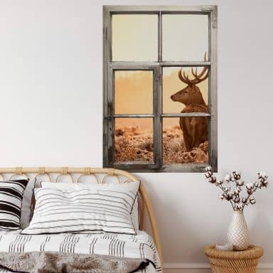 Trompe L'oeil Wall sticker Majestic Deer