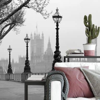 Fototapete Papiertapete London Fog - 366x254 cm