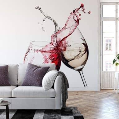 Fotomurale Bicchieri di vino - 336x254 cm