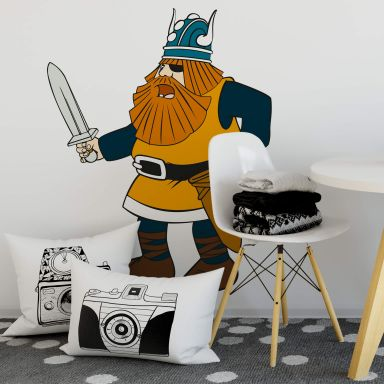 Muursticker Wickie de Viking - Halvar 2