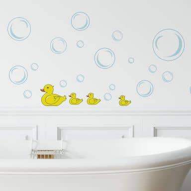 Wandsticker Entchen für das Badezimmer