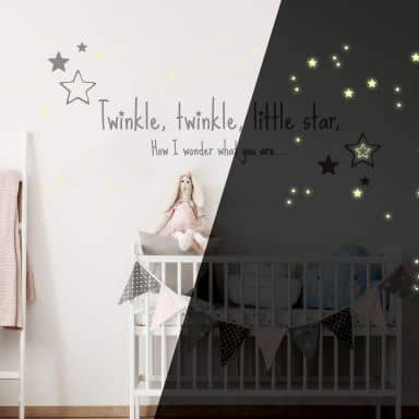 Twinkle Twinkle Little Star... + Glow in the Dark Wall sticker