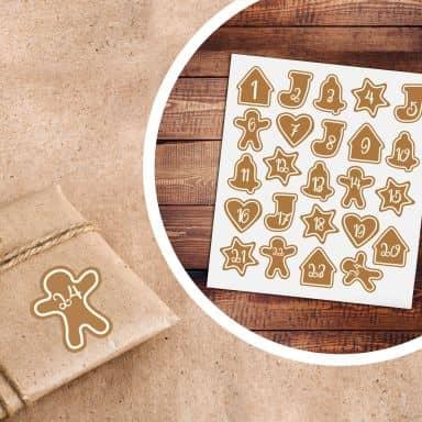 Sticker Adventskalender Lebkuchen