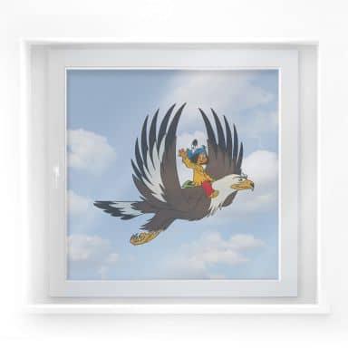 Fensterbild Yakari und Großer Adler