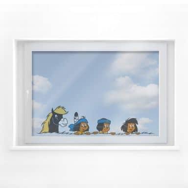 Fensterbild Yakari und seine Freunde