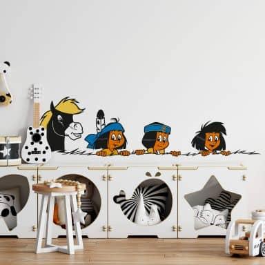 Sticker mural - Yakari et ses amis