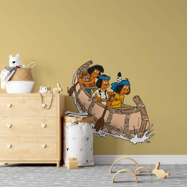 Yakari in the Canoe Wall sticker