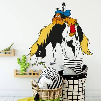 Yakari with little Donner Wall sticker