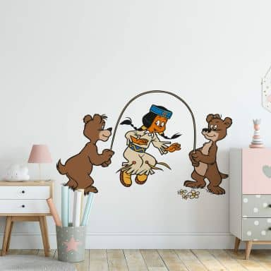 Yakari is jumping the rope Wall sticker