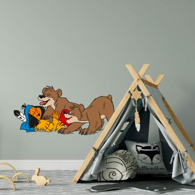 Yakari playing with bears Wall sticker