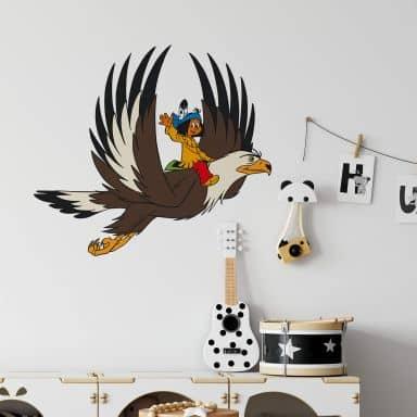 Sticker mural - Yakari et Grande Aigle