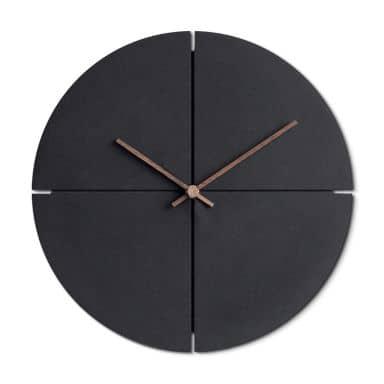 Moderne MDF Wanduhr schwarz Holzzeiger Ø29 cm