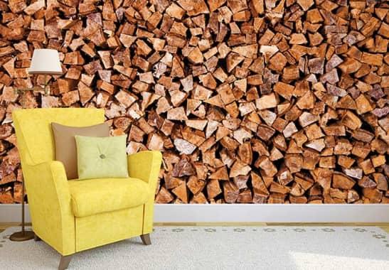 fototapete holz holzstapel f r einen nat rlichen look wall. Black Bedroom Furniture Sets. Home Design Ideas