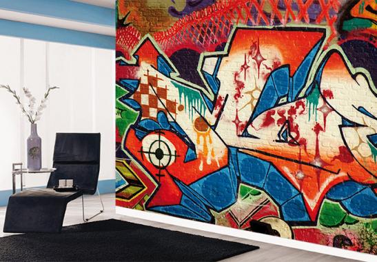 Selbstklebende Tapete Vlies : Fototapete Graffiti von K&L Wall Art wall-art.de