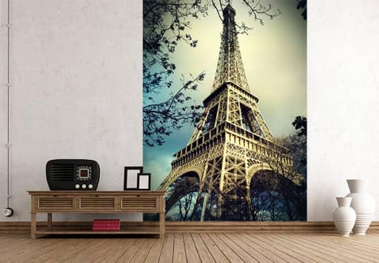 fototapete paris eiffelturm holen sie sich die sehensw rdigkeit ins haus wall. Black Bedroom Furniture Sets. Home Design Ideas