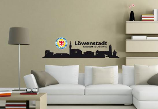 eintracht braunschweig skyline deko vom btsv wall. Black Bedroom Furniture Sets. Home Design Ideas