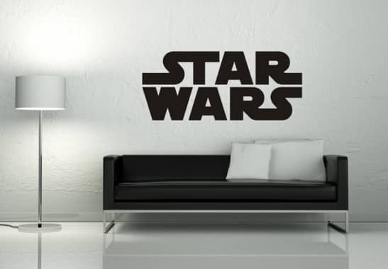 wandaufkleber star wars logo wandtattoos star wars wall. Black Bedroom Furniture Sets. Home Design Ideas