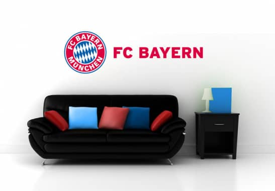fc bayern m nchen logo mit schriftzug originales fcb. Black Bedroom Furniture Sets. Home Design Ideas