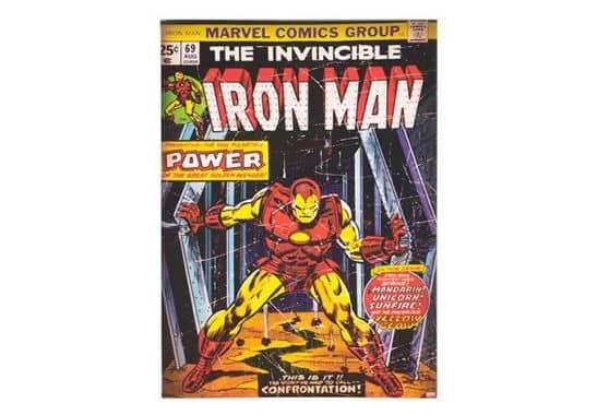leinwandbilder leinwandbild marvel comics iron man. Black Bedroom Furniture Sets. Home Design Ideas