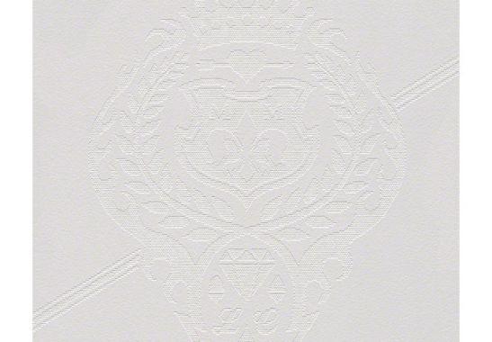Patroonbehang lars contzen behang kingly crest wall - Zilvergrijs behang ...