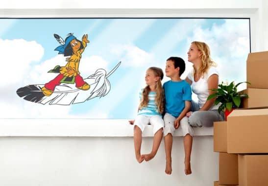 Fensterbild yakari federleicht fensterdekoration f r das for Kinderzimmer yakari