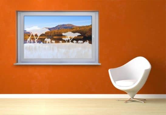 glasdekor f r afrika fans blickdichte folie f r fenster wall. Black Bedroom Furniture Sets. Home Design Ideas