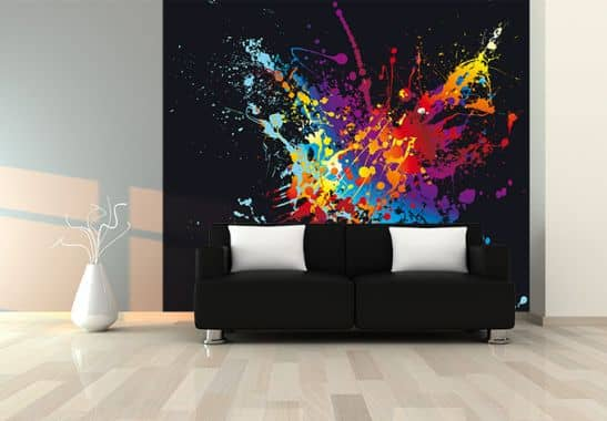fototapete farbenexplosion stylische wanddeko f r zuhause wall. Black Bedroom Furniture Sets. Home Design Ideas