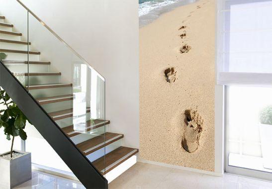 Footprints Wall Decor : Footprints on the sand photo wall art