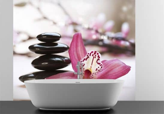 Selbstklebende Tapete Wellness : Orchid Print Wallpaper