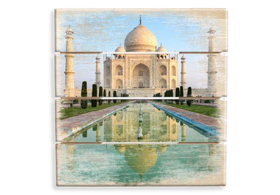 holzbild taj mahal orientalische dekoration f r ihr zuhause wall. Black Bedroom Furniture Sets. Home Design Ideas