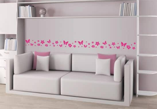 Babyzimmer Tapeten Bord?re : Sticker Wall Borders and Frames