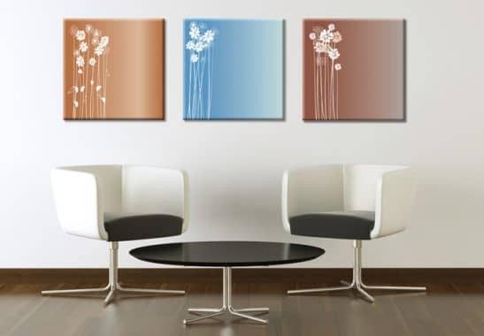 leinwanddruck flowers wandbild triptychon wall. Black Bedroom Furniture Sets. Home Design Ideas