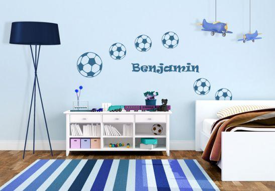 wandtattoo name fu b lle sch ne deko f r das kinderzimmer wall. Black Bedroom Furniture Sets. Home Design Ideas