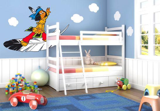 Wandtattoo yakari federleicht for Kinderzimmer yakari