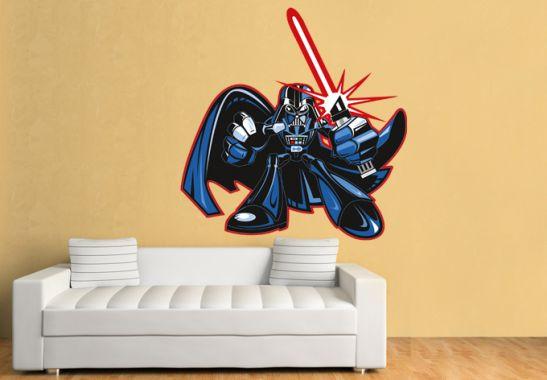 wandtattoo star wars clone wars darth vader comic style. Black Bedroom Furniture Sets. Home Design Ideas