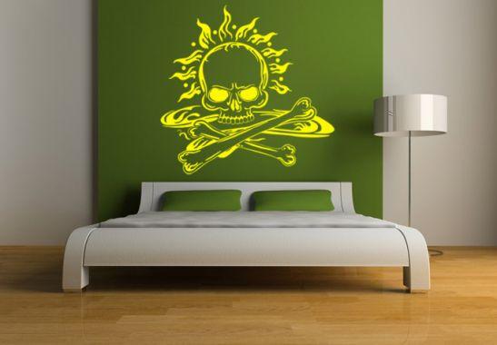 wandtattoo totenkopf der totenkopf ist ein blickfang als wandtattoo wall. Black Bedroom Furniture Sets. Home Design Ideas