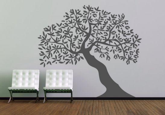 wandtattoo baum mehrteilig 1 baum als wandtattoos wall. Black Bedroom Furniture Sets. Home Design Ideas