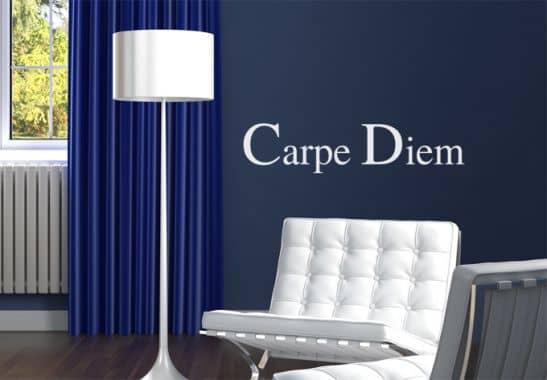 wandtattoo wandtattoo carpe diem 2. Black Bedroom Furniture Sets. Home Design Ideas