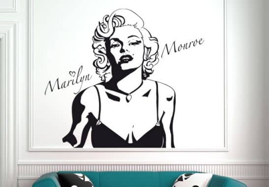 wandtattoo marilyn monroe wandtattoo von k l wall art wall. Black Bedroom Furniture Sets. Home Design Ideas
