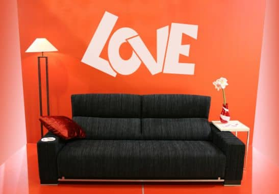wandtattoo love 2 ein herzlicher wandsticker love 2 f r. Black Bedroom Furniture Sets. Home Design Ideas