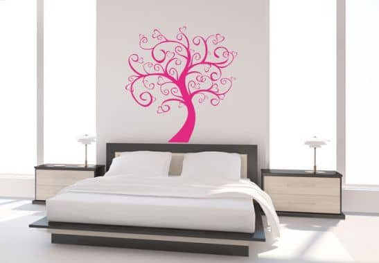 wandtattoo baum der herzen schlafzimmer deko wall. Black Bedroom Furniture Sets. Home Design Ideas
