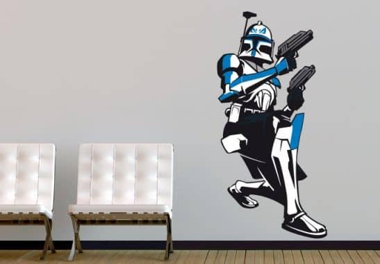 wandtattoo star wars clone wars captain rex 04 als. Black Bedroom Furniture Sets. Home Design Ideas