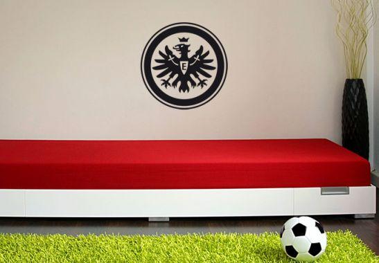 wandtattoo eintracht frankfurt logo einfarbig. Black Bedroom Furniture Sets. Home Design Ideas