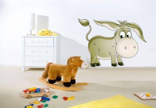 Wandtattoo Wandtattoo Esel