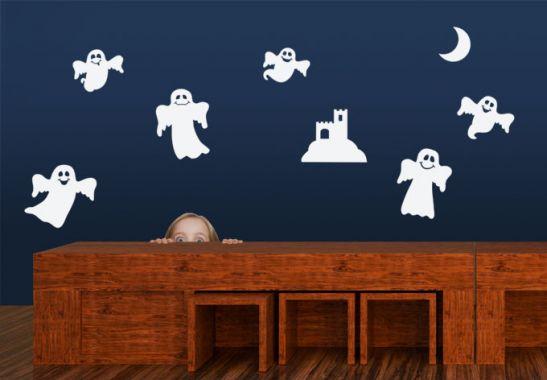 lustige gespenster set wandtattoo von k l wall art wall. Black Bedroom Furniture Sets. Home Design Ideas