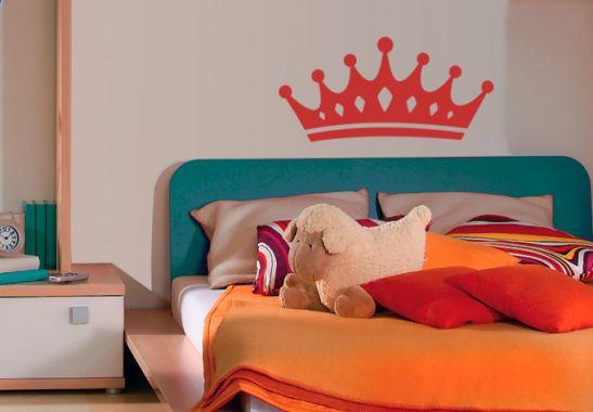 wandtattoo wandtattoo krone 2. Black Bedroom Furniture Sets. Home Design Ideas