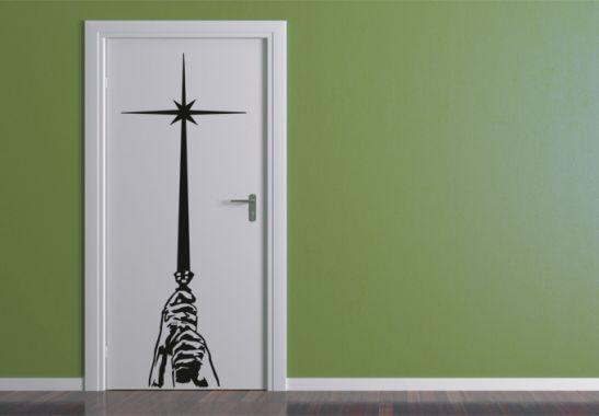 wandtattoo star wars lichtschwert als gro er. Black Bedroom Furniture Sets. Home Design Ideas