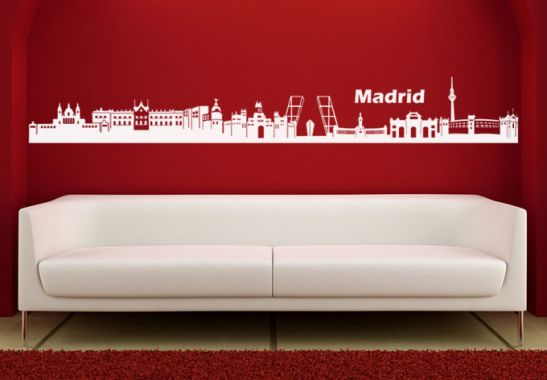 Wandtattoo - Madrid Skyline