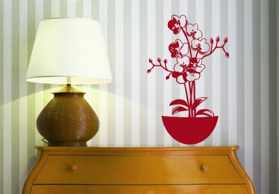 Wandtattoo wandtattoo orchidee 2 - Wandfarbe orchidee ...